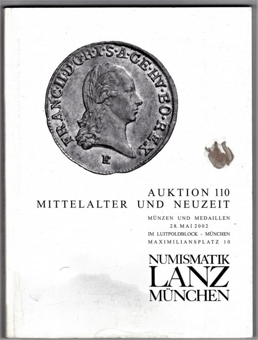 Catalog licitatie 110/2002 LANZ Munchen