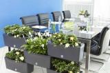 Set 5 jardiniere modulare comunicante-Taupe