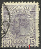VARIETATE RARISIMA --15 BANI SPIC DE GRAU, Stampilat