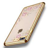 Husa iPhone 7 Plus - Luxury Flowers Gold, iPhone 7/8 Plus, Silicon, Carcasa