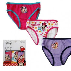 Set 3 perechi chiloti Minnie Mouse 4-5ani