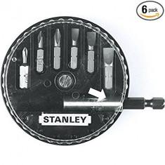 Set 6 varfuri de insurubat si adaptor magnetic 1-68-739 STANLEY - Set Darts