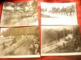 Set 4 Fotografii- Copii vechi - Armata Romana in Primul Razboi Mondial ,dim.=20x
