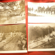 Set 4 Fotografii- Copii vechi - Armata Romana in Primul Razboi Mondial, dim.=20x - Fotografie veche