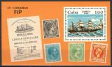 CUBA 1984 - NAVIGATIE - BLOC NESTAMPILAT - MNH / navigatie130