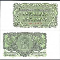 Cehoslovacia 1961 - 5 korun UNC - bancnota europa