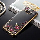Husa Samsung Galaxy S8 - Luxury Flowers Gold, Silicon, Carcasa