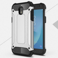 Husa Samsung Galaxy J7 2017 - Hybrid Armor Silver, Gel TPU