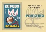 EXIL ROMANIA,EUROPA CEPT 1966,BLOC ,NEUZAT., Istorie, Nestampilat