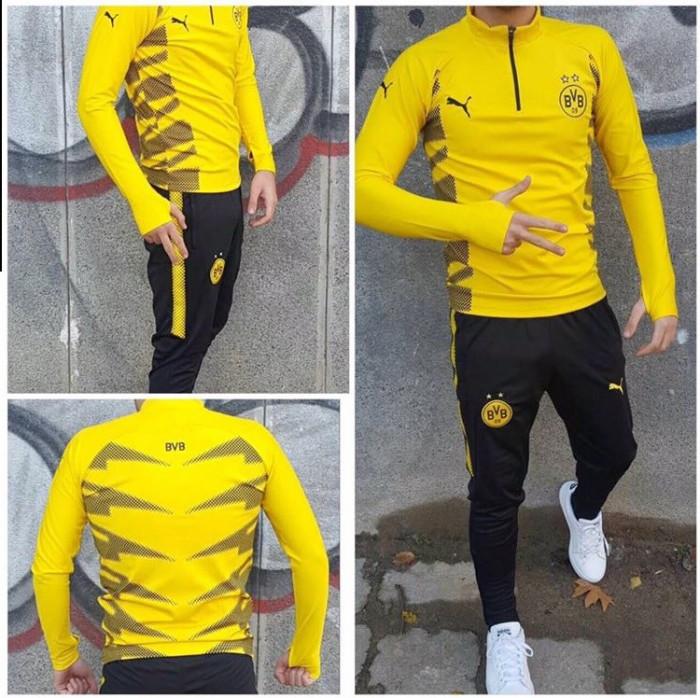 Trening Borussia Dortmund pantalon conic noul model 2018