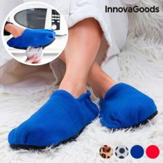 Papuci cu incalzire la microunde - Albastru - Incaltaminte ortopedica