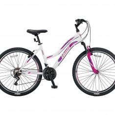 "Bicicleta MTB Umit Adeline Lady , Culoare Roz/Alb , Roata 26"", OtelPB Cod:264800000, 21"