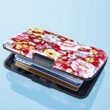 Port card din aluminiu pentru carduri-Flori