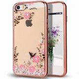 Husa iPhone 6 si 6S - Luxury Flowers Rose-Gold, iPhone 6/6S, Silicon, Carcasa