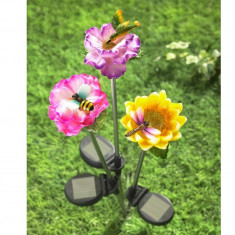 Decoratiune solara Floare cu Colibri - Clepsidra