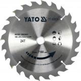 Disc fierastrau wolfram pentru lemn 190 mm x 24T YATO