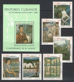 CUBA 1979 - PICTURA - SERIE DE 6 TIMBRE+BLOC NESTAMPILAT - MNH / pictura595