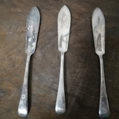 Vand set 3 cutite peste argintate vechi, Tacamuri