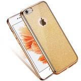 Husa iPhone 6 si 6S - Cu Sclipici Aurie, iPhone 6/6S, Gel TPU