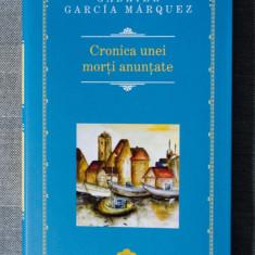 Gabriel Garcia Marquez - Cronica unei morți anunțate (Rao, 2014, nouă) - Roman