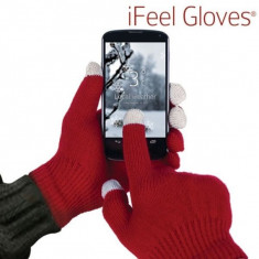 Manusi pentru ecrane tactile-rosu - Manusi touchscreen