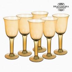 Pahare din Sticlă Reciclată (6 pcs) 500 ml Galben - Crystal Colours Kitchen Colectare by Bravissima Kitchen - Suport pahare