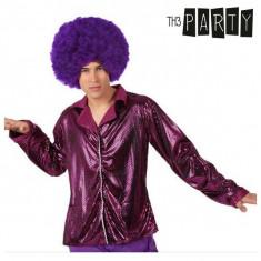 Jachetă pentru Adulți Th3 Party Disco Luciu Fucsia
