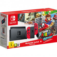 Consola NINTENDO Switch Super Mario Odyssey Edition (Red Joy-Con) - Joc Nintendo Switch