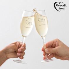 Cupe Mr & Mrs Congratulations Romantic Items (pachet de 2)