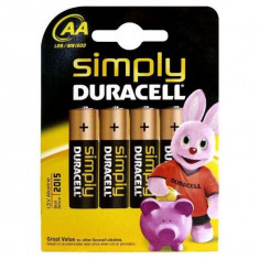 Baterii Alcaline DURACELL Simply DURSIMLR6P4B LR6 AA 1.5V (4 pcs)