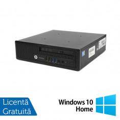Calculator Refurbished HP Compaq EliteDesk 800 G1 USDT, Intel i5-4570s, 4GB DDR3, 500GB HDD, DVD-ROM + Windows 10 Home