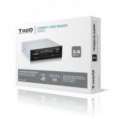 """Cititor Intern de Carduri TooQ TQR-208B 3½"""" USB 2.0 Micro SD/M2 Argintiu Negru"""