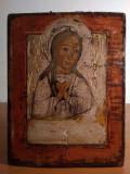 Icoana Lipoveneasca veche Maica Domnului, 200 ani - Piesa de colectie