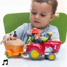 Tractor ce Evită Obstacolele cu Lumină și Sunet