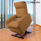 Fotoliu Relax cu Funcție de Masaj și de Ridicare Cecorelax Compact Camel 6006