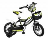 """Bicicleta Copii Umit Z.Trend , Culoare Negru/Galben Roata 14"""" OtelPB Cod:1402000000"""