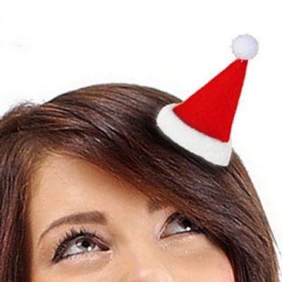 Agrafă de Păr Căciuliță de Moș Crăciun foto