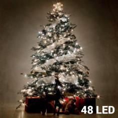 Lumini de Crăciun Albe (48 LED) - Ornamente Craciun