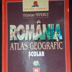 ATLAS GEOGRAFIC SCOLAR ROMANIA , OCTAVIAN MANDRUT