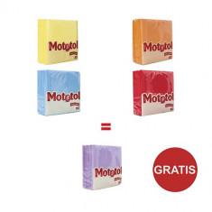 Pachet 4 Pachete color servetele Mototol + 1 Gratuit