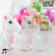 Unicorn de Pluș Mergător cu Aparat de Înregistrat și Reproducător de Voce Junior Knows - Fluturas Darts