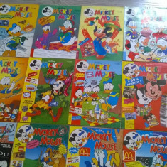 REVISTA MICKEY MOUSE ANUL 1996 COMPLET 12 NR. ED.EGMONT ROMANIA