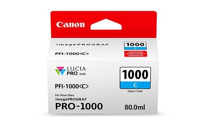 CANON PFI-1000C CYAN INKJET CARTRIDGE foto mare