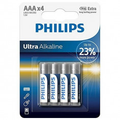 Baterii Alcaline Philips LR03 AAA LR03 (4 pcs)