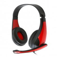 Cască Gaming Omega Freestyle FH4008R Roșu - Casca PC