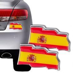 Autocolante Auto cu Steagul Spaniei (pachet de 2)
