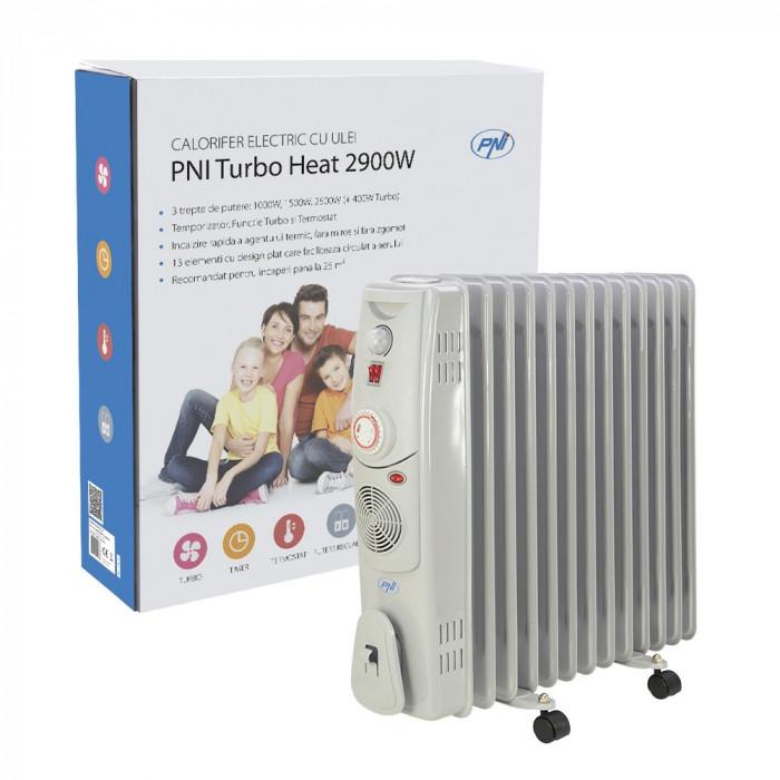 Resigilat : Calorifer electric cu ulei PNI Turbo Heat 2900W 13 elementi 3 trepte d