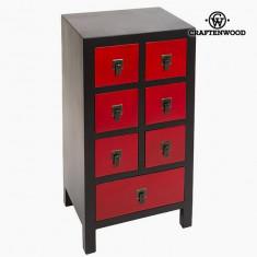 Mobilier pentru Hol Mdf Negru Roșu (44 x 35 x 86 cm) - Modern Colectare by Craftenwood - Dulap hol