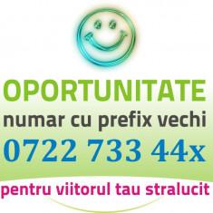 Numar Prefix Vechi GOLD - 0722.733.44x - usor frumos aur vip cartela numere