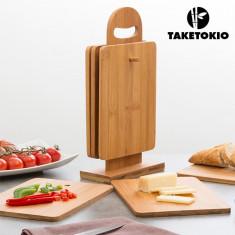 Set de Planșete de Bucătărie din Bambus cu Suport TakeTokio (7 piese) - Nivela laser rotativa